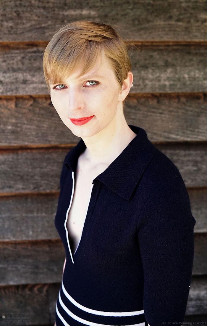 跨性别士兵曼宁首次分享女装照片