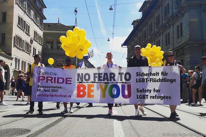 瑞士苏黎世庆祝LGBT骄傲日