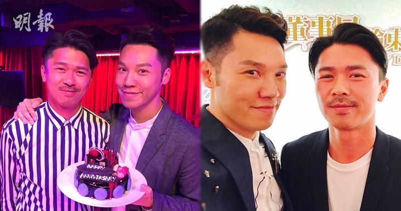 王贤志与同性伴侣Kevin 庆祝结婚1周年