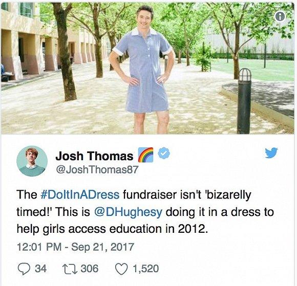 """澳洲""""穿裙""""活动和同性婚姻论战意外帮非洲儿童筹款百万元"""