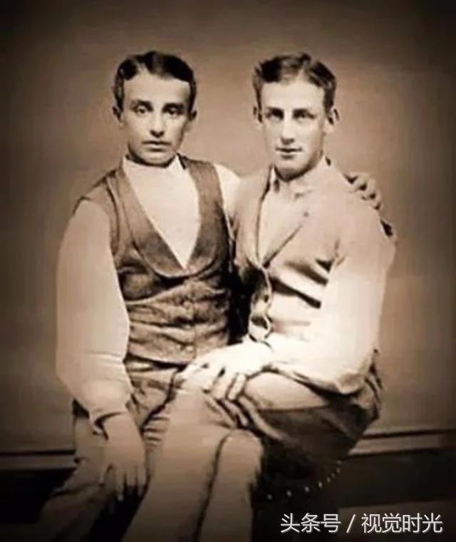 一些同性夫妇的合影老照片