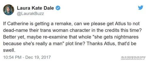 《凯瑟琳Full Body》新女主是同性恋者 Atlus遭女权抗议:性别歧视同性恋者