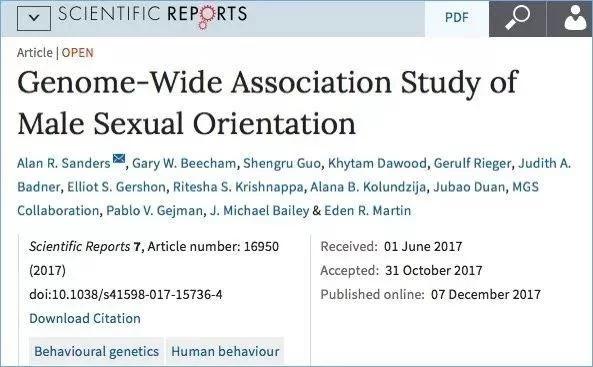 长寿、同性恋:原来都是基因决定的