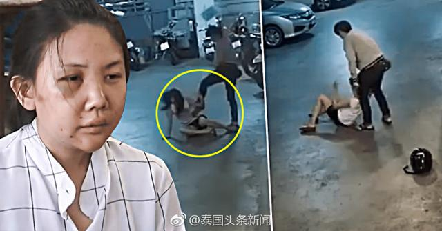 泰国22岁女子停车场内被同性女友暴揍