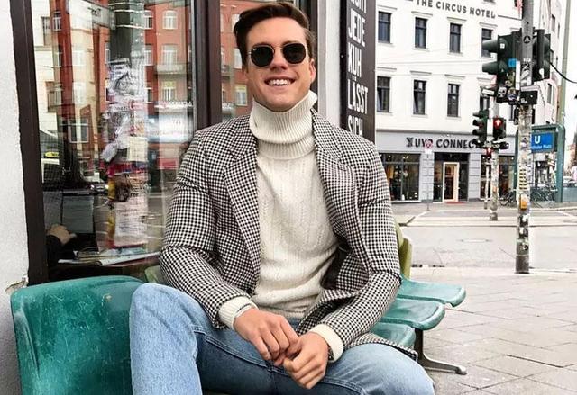 一衣多穿|3种高领毛衣搭配,你就是冬日里的男神本人!