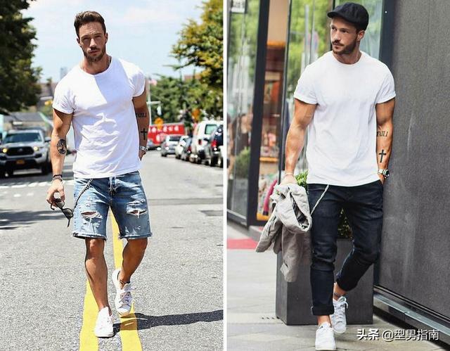 白色T恤搭配千千万,为啥就你穿得最难看,还不学起来?