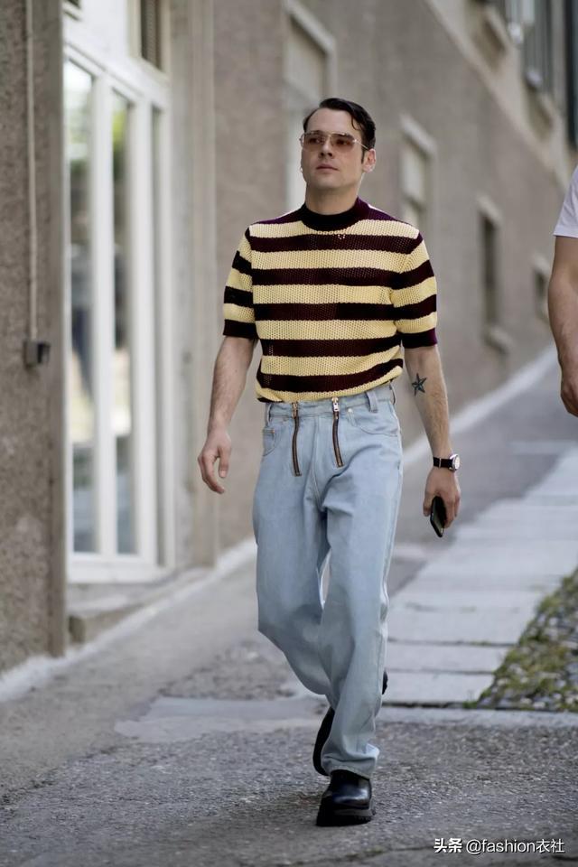 男士,穿针织感上衣,原来这么好看?