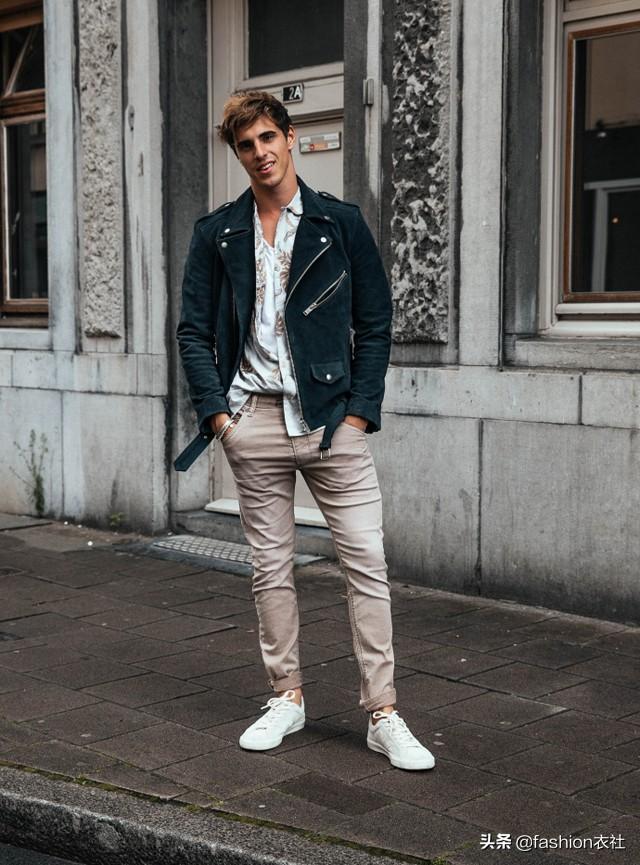 男生,一双板鞋的搭配,够帅